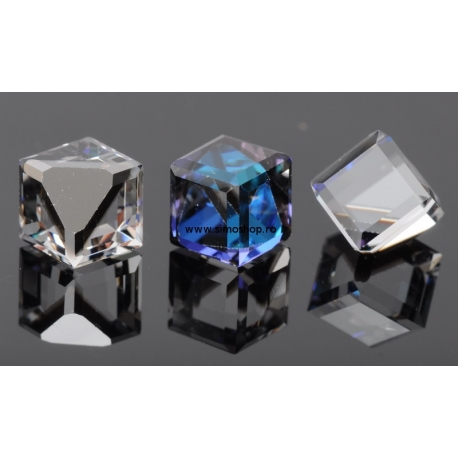 P1191-SWAROVSKI ELEMENTS 4841-Crystal Bermuda Blue Unfoiled 8mm