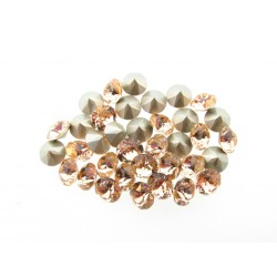 P1263-Swarovski Elements 1088 Light Peach Foiled SS34 7mm 1 buc