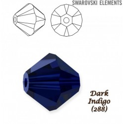 2138-SWAROVSKI ELEMENTS 5328 Dark Indigo 4mm-1buc