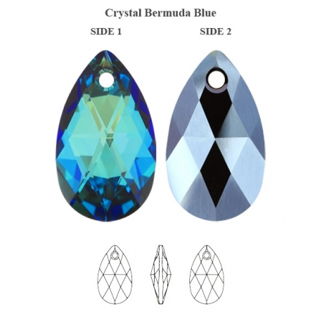 P0953-Swarovski Elements 6106 Bermuda Blue 22mm