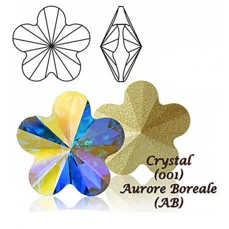 P1568-Swarovski Elements 4744 Crystal Aurore Boreale F 10mm