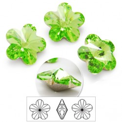 P1569-Swarovski Elements 4744 Peridot Foiled 10mm 1 buc