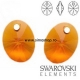 P1660-Swarovski Elements 6028 Tangerine 12 mm 1buc