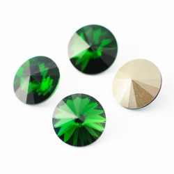P1704-SWAROVSKI ELEMENTS 1122 Dark Moss Green Foiled 14mm