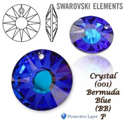 P1802-SWAROVSKI ELEMENTS 6724 Crystal Bermuda Blue 19mm 1 buc