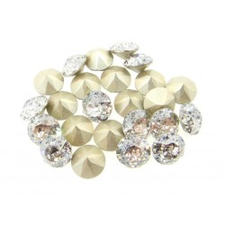 P1946-Swarovski Elements 1088 White Patina Foiled SS29 -6mm