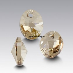 P2131-Swarovski Elements 6028 Crystal Golden Shadow 10mm 1 buc