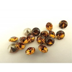 P2436-Swarovski Elements 1088 Topaz Foiled SS39 8mm