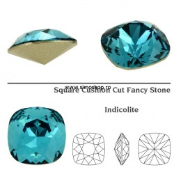 P2461-SWAROVSKI ELEMENTS 4470 Indicolite Foiled 12mm