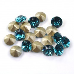 P2538-Swarovski Elements 1088 Indicolite Foiled SS29 6mm
