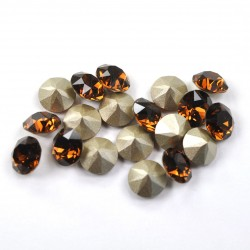 P2540-Swarovski Elements 1088 Smoked Topaz Foiled SS29 6mm