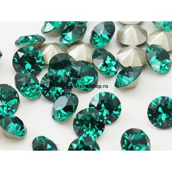 0772-Swarovski Elements 1028 Emerald Foiled PP9 1.5mm 50BUC