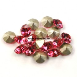 0774-Swarovski Elements 1028 Indian Pink Foiled PP9 1.5mm 50BUC