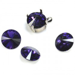 P2667-SWAROVSKI ELEMENTS 1122 Purple Velvet Foiled SS47-11mm