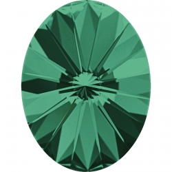 2647-Swarovski Elements 4122 Emerald Foiled 8x6mm 1 buc