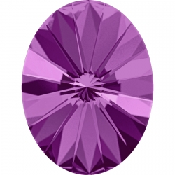 2648-Swarovski Elements 4122 Amethyst Foiled 8x6mm 1 buc