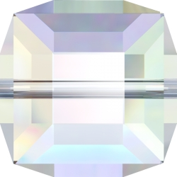 P2989-Swarovski Elements 5601 Cube Bead Crystal Aurore Boreale B 6mm