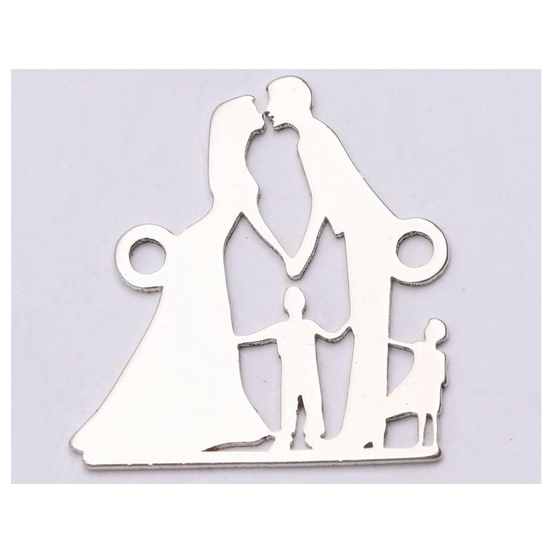 P3028-Swarovski Elements 2078/I Denim Blue (Light Chrome Z) Silver-Foiled 7mm - 1BUC