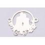 P3029-Swarovski Elements 2078/I Denim Blue (Dorado Z) Silver-Foiled 7mm - 1BUC