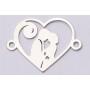 P3030-Swarovski Elements 2078/I Greige (Light Chrome Z) Silver-Foiled 7mm - 1BUC
