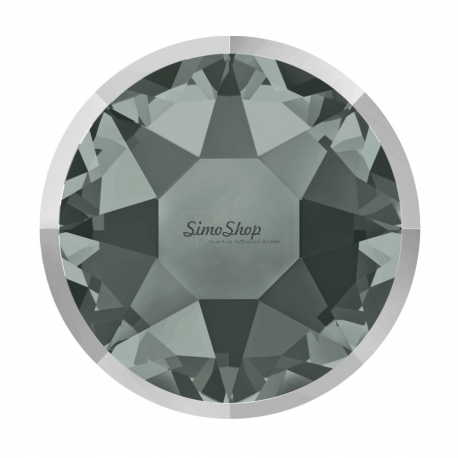 P3032-Swarovski Elements 2078/I Black Diamond (Light Chrome Z) Silver-Foiled 7mm - 1BUC