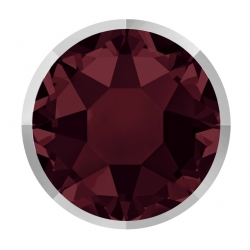 P3040-Swarovski Elements 2078/I Burgundy (Light Chrome Z) Silver-Foiled 7mm - 1BUC