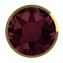 P3041-Swarovski Elements 2078/I Burgundy (Dorado Z) Silver-Foiled 7mm - 1BUC