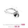 P0479-SWAROVSKI ELEMENTS 1122 Chrysolite Foiled 12mm-1buc