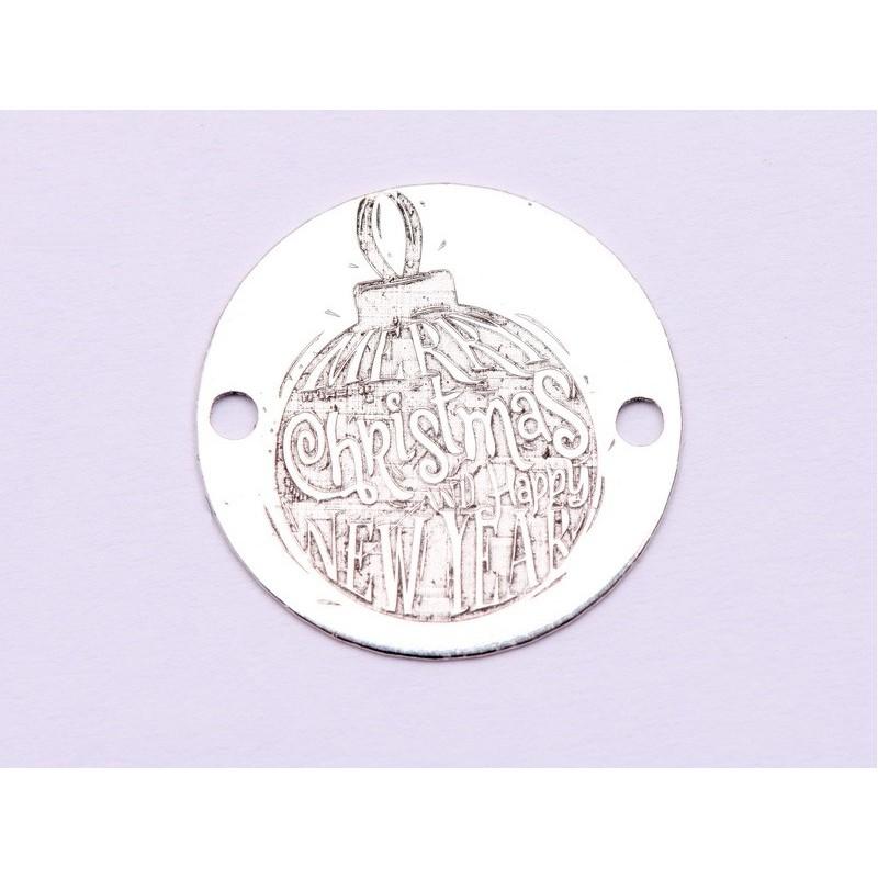 2760-Swarovski Elements 2078/H Crystal Jet Hematite Silver-Foiled SR 7mm - 1BUC