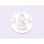 2759-Swarovski Elements 2078/H Crystal Jet Hematite Silver-Foiled GM 7mm - 1BUC