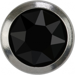 2759-Swarovski Elements 2078/H Crystal Jet Hematite Silver-Foiled GM 7mm - 1BUC