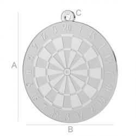 G1266-Charm rotund darts argint 925 22.00x20mm 1 buc