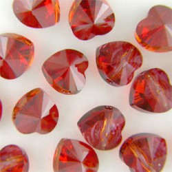 P3140-Swarovski Elements 5742 Crystal Red Magma 14mm-1 buc