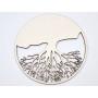 P3150-Swarovski Elements 5728 Scarab Bead Silver Night12mm
