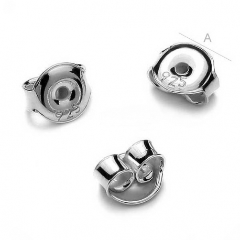 G0050-Dop-uri argint 925 cercei 4.5 mm 1 bucata
