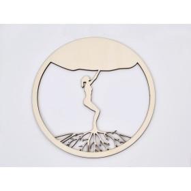 G1287-Incuietoare rotunda din argint 8.5x6.9 mm 1 bucata