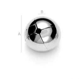 G1296 - Bilute Argint 6mm, cu o singura gaura 0.90mm 1 bucata