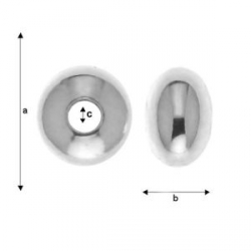 G1335- Biluta Argint aplatizata 4.40x2.80mm, gaura 1.40mm 1 bucata