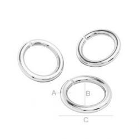 G1342-Zale argint 925 dimensiune 0.7x3.20mm interior 1.8mm