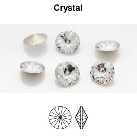 2770-SWAROVSKI ELEMENTS 6428 Crystal Silver Patina 8mm