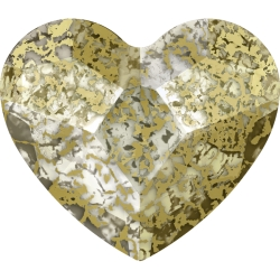 P3178-Swarovski Elements 2808 Crystal Gold Patina F 14mm