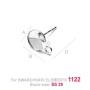 P0560-SWAROVSKI ELEMENTS 1122 Silk Foiled SS47 -11mm
