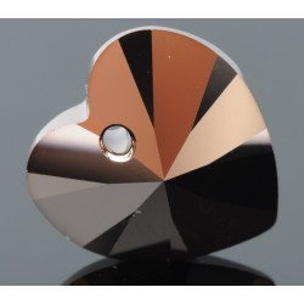 P0574-Swarovski Elements 6228 Rose Gold 14mm 1 buc