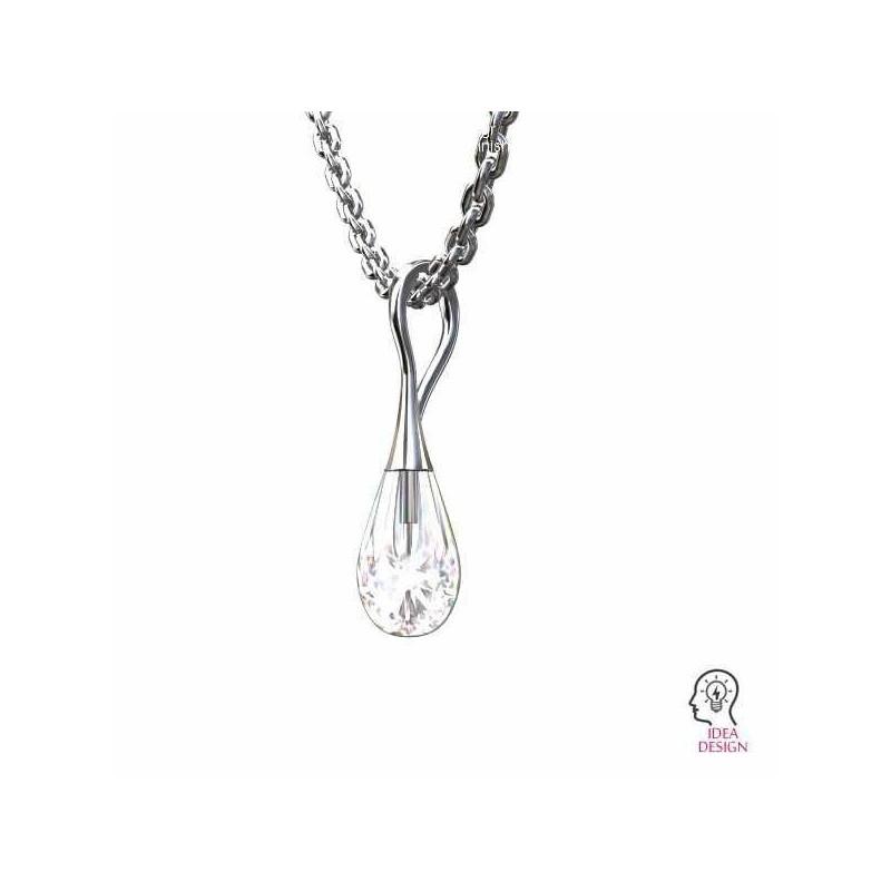 P0590-Swarovski Elements 6028 Crystal Aurore Boreale 18mm 1 buc