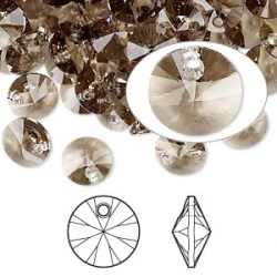 2802-SWAROVSKI ELEMENTS 6428 Greige 8mm-1 buc