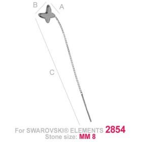 P1173-SWAROVSKI ELEMENTS 4841-Crystal Vitrail Medium Unfoil 6mm