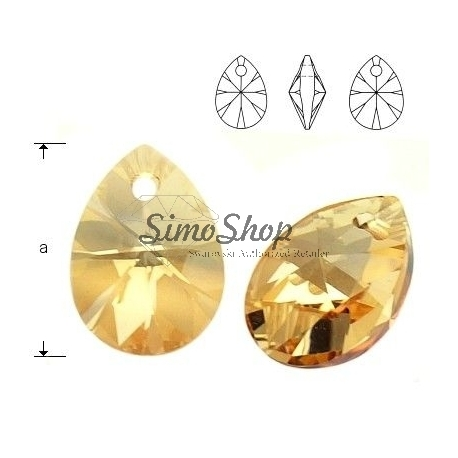 P0251-Swarovski Elements 6128 Crystal Golden Shadow 12mm-1 buc