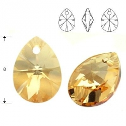 P1230-Swarovski Elements 6128 Crystal Golden Shadow 10mm-1 buc