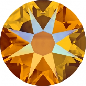 P3229-SWAROVSKI ELEMENTS 2078 Tangerine Shimmer Silver F Hotfix SS34 7mm