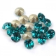 1088 SS 34 BLUE ZIRCON F Swarovski Elements 1088 Blue Zircon Foiled SS34 7mm